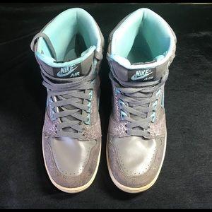 Nike Air Force II WMNS sz 8.5 clear blue/powder